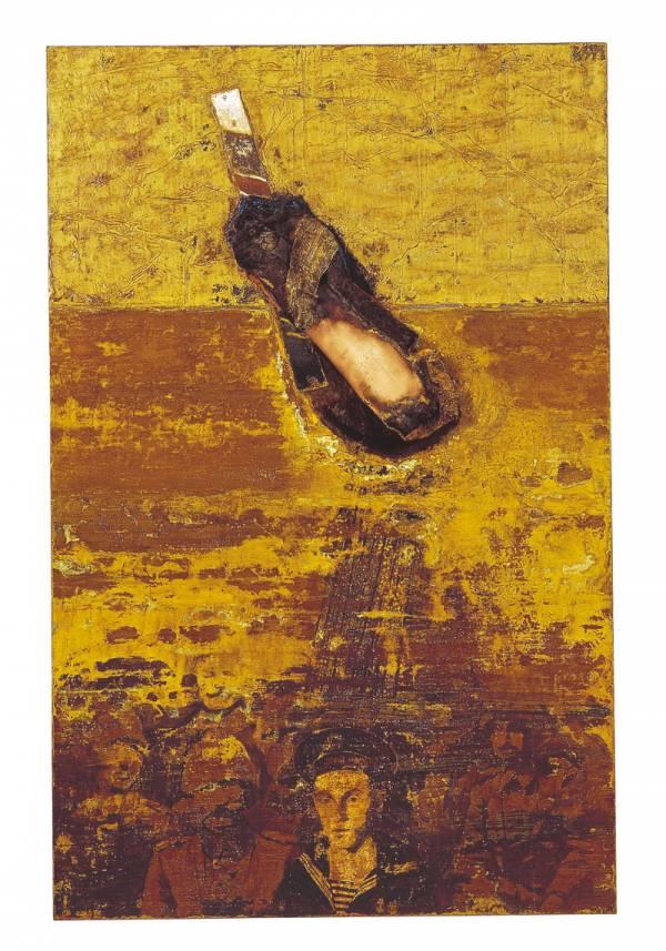 fotografia di quadro di romano masoni per catalogo personale