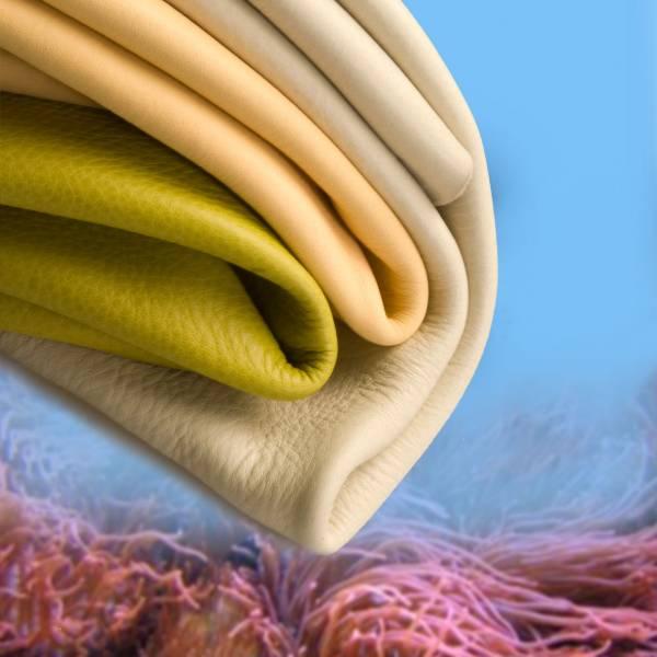 fotografia di pellami inseriti in immagini di sfondo