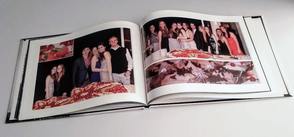 fotoalbum interno pagine del taglio della torta